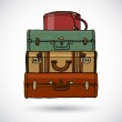Suitcases in doodle style — Stock Vector #20070183