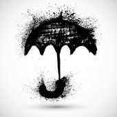 Umbrella. Vector grunge sketch — Vector de stock
