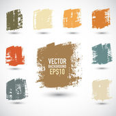 Grunge colorful squares — Stock Vector