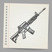 M16 Doodle Vector illustration. — Stock Vector
