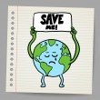 Save the earth design template. Vector, EPS10 — Stock Vector