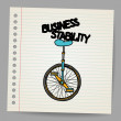 Vector de stock : Business stability concept. Vector illustration