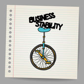 концепция стабильности бизнеса. векторные иллюстрации — Cтоковый вектор