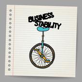 Concepto de la estabilidad del negocio. ilustración vectorial — Vector de stock