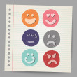 Scribble faces — Stock Vector