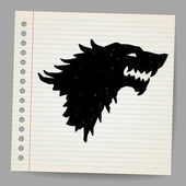 Black wolf for your design — Stock Vector