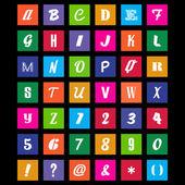 Metro Font Set — Stock Vector