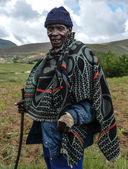 Native Basotho man from Butha-Buthe region of Lesotho — Stock Photo