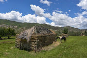 Traditional Farmhouse in Lesotho — Stock Photo