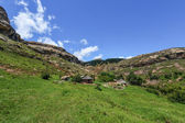 Hut in Lesotho Landscape — Photo