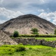 Stock Photo: Pyramid of Sun, Teotihuacan