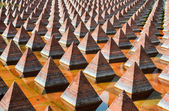 Pyramids of Plaza Juarez — Stock Photo