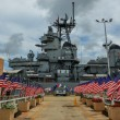 Stock Photo: Battleship USS Missouri