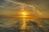 Sunset on the water Everglades, Florida — Stock Photo