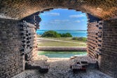 Window, Fort Jefferson at the Dry Tortugas National Park — Stock Photo