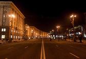 Khreshatyk Street at Night, Kiev — Stock Photo
