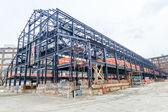 Empty warehouse, factory shell under construction. — Stock Photo