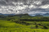 Landscape of Giants Castle Game Reserve — Stock Photo