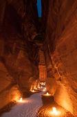 Petra at Night — Stock Photo