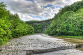 Path to Taughannock Falls, New York — Stock Photo