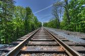 Railroad, Watkins Glen Bridge — Stock Photo