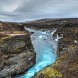Stock Photo: Hraunfossar Waterfall, Northwest Iceland