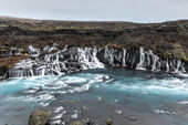Hraunfossar Waterfall, Northwest Iceland — Stock Photo