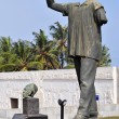 Dr. Kwame Nkrumah Vanzalized Statue — Stock Photo