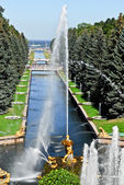 Peterhof Palace Fountain — Stock Photo