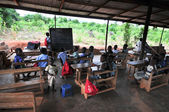 Outdoor African Elementary School Classroom — Stock Photo