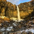Svartifoss Water in Early Winter — Stock Photo #43343315
