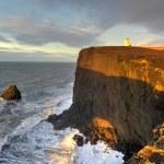 Lighthouse, Cape Dyrholaey, Iceland — Stock Photo #43579657