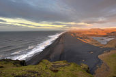 View from Dyrholaey, Iceland — Foto Stock