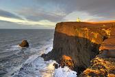 Lighthouse, Cape Dyrholaey, Iceland — Stock Photo