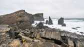 Rocky coast near Reykjanes, Iceland — Stock Photo