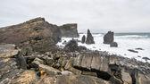 Rocky coast near Reykjanes, Iceland — Stock Photo