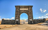 Yellowstone National Park Entrance, Arch — Stock Photo