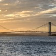 Постер, плакат: Verrazano Narrows Bridge at Sunset