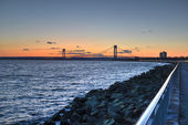Verrazano Narrows Bridge At Sunset — Stock Photo