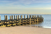 Old Pier on the Beach — Stock Photo