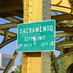 Sacramento City Limit Sign — Stock Photo #50275163