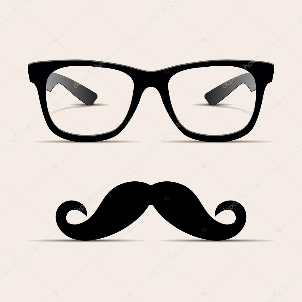 Hipster glasses, Hipsta man. Vector — Stock Vector ...