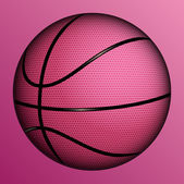 Vector illustration of realistic basketball ball. — Vecteur