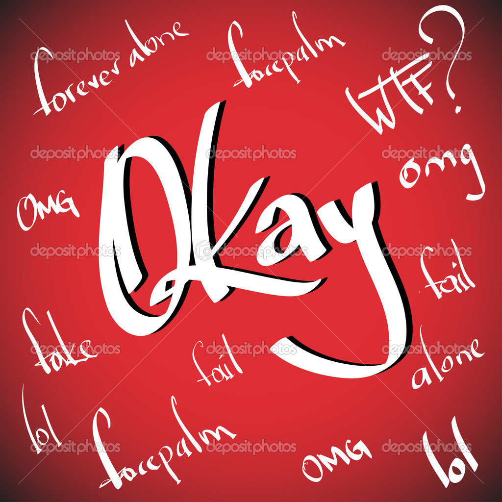 Okay greetings  hand lettering set (vector)  Stock Vector #12797861