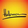 Royalty-Free Stock Vector Image: Halloween vector frame.  Hand lettering