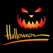 Halloween vector frame. Hand lettering — Stock Vector