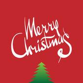 Frohe weihnachten hand lettering - kalligraphie — Stockvektor