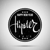 Hipster New Year 2013 — Stock Vector