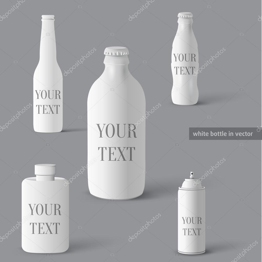 Set of bottles. Vector bottle elements  Stockvectorbeeld #13836341