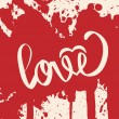 ストックベクタ: Lettering LOVE. For themes. Vector illustration.